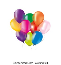 Vector colorful isolated balloons