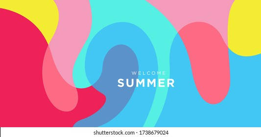 Vector Colorful liquid and fluid background for summer collection
