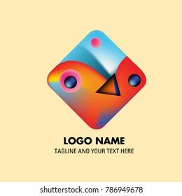 Vector colorful mexican culture logo
