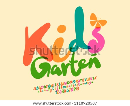 Vector Colorful Modern Poster Kids Garten Stock Vector Royalty Free