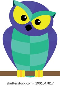 A vector of a colorful owl