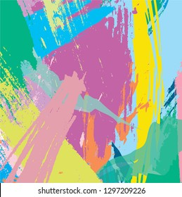 vector colorful paint brush and strokes, splash for poster, brochures, flyers, banner, wallpaper, poster. freehand composition