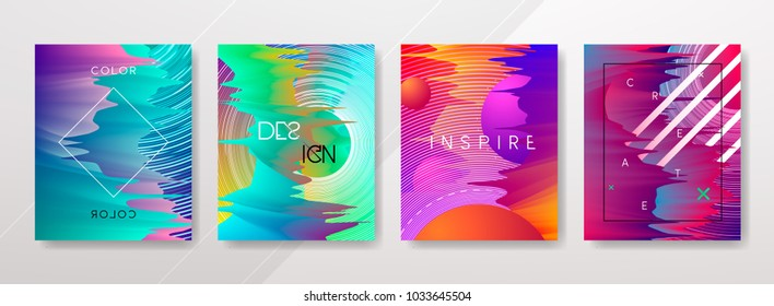 Vector Colorful shapes, vibrant texture, hologram gradients, abstract motion for banners, covers, posters, patterns, templates,...
