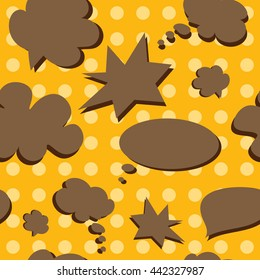 Vector Colorful Speech Bubbles Pattern. Colored Stickers Seamless Background