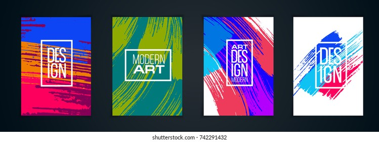 vector colorful stains on paper A4. Background and frame for hipster colorful design. texture of the brush modern design. Element for design invitations, gift cards, flyers and brochures