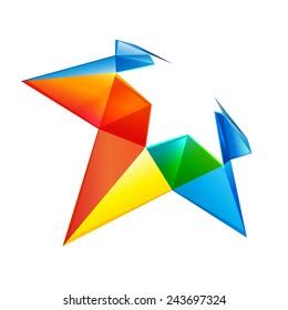 Vector colorful star logo icon