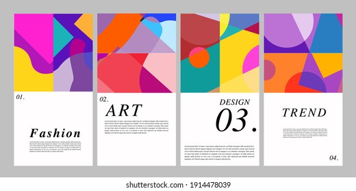 Vector colorful surreal abstract background illustration for poster, banner, print, fabric and social media story