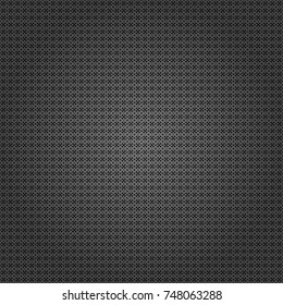 Vector colorful symmetrical seamless pattern for textile, tiles and design in black, white and gray tones.