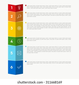 Vector colorful template, background for web design or presentation and infographic.