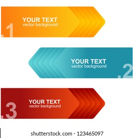 Vector colorful text box arrow