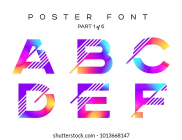 Vector Colorful Typeset. Blue, Pink, Purple Neon Colors. Liquid Bright Paint Effect. Urban Techno Type for Logo, Fashion Show, DJ Poster, Sale Banner, Music Cover. Fluorescent Multicolor Gradient.
