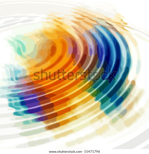 Vector Colorful Water Ripples, Also See Bitmap Jpeg In My Portfolio
