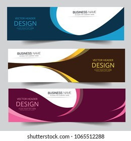 Vector colorful wave banner web header design Abstract geometric shape. Can be adapt to Brochure, Annual Report, Magazine, Poster, Corporate Presentation web header.