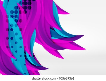 Vector colorful wave lines in white and grey 3d space. Abstract background for your message, vector illustration - business or technology presentation wallpaper