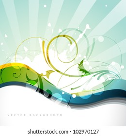 vector colorful wave style design art