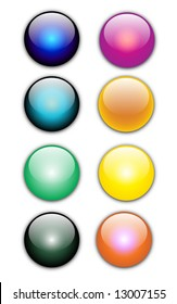 Vector colorful web buttons