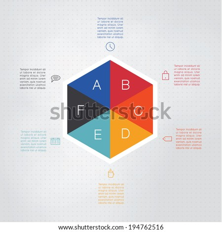 vector colorfully hexagon template colorfully hexagon stock vector