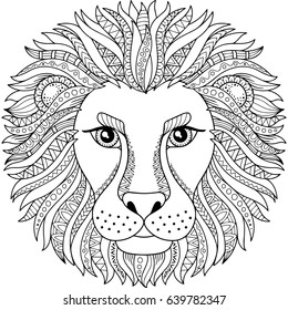 Lion Adult Coloring Images Stock Photos Vectors Shutterstock