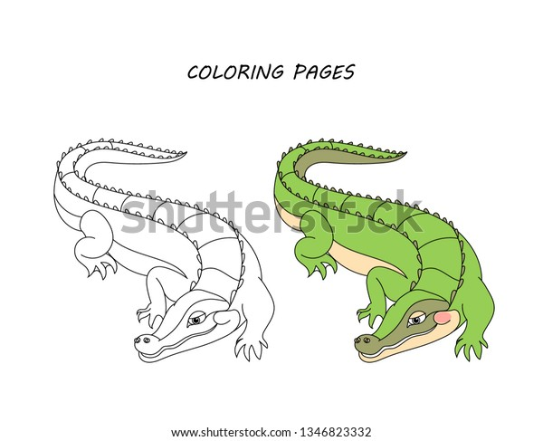 A is for Alligator Coloring Page - Twisty Noodle   487x600