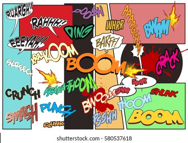 vector comic book sound effects set stock vector royalty free