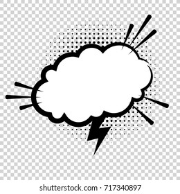 Vector comic explosion. Comic cartoon speech bubble for different emotions: Wow, Omg,  Boom, Gtfo, Yeah, Damn, Wtf without text.
