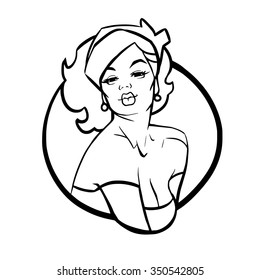 royalty free pin up girl images stock photos vectors shutterstock Can Can Petticoats vector ic illustration pop art girl pin up girl vintage advertising