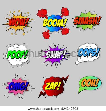 vector comic speach bubble phrase smash stock vector royalty free
