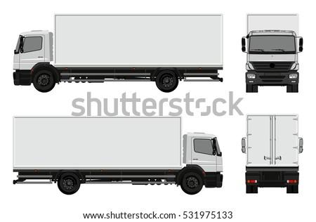 Vector commercial cargo van