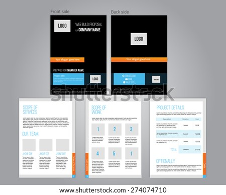 Vector commercial proposal design template your stock vector vector commercial proposal design template for your business in dark colors eps10 cheaphphosting Images