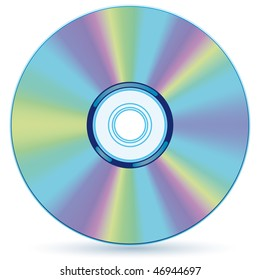 Vector compact disc - blend and gradient only