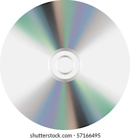 Vector compact disc icon isolated on white