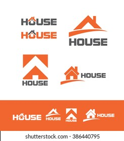 Vector company logo icon element template house home roof real estate