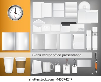 Vector company style for brand book and guideline. - vector