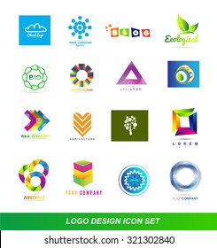 Vector company various logo icon element template set
