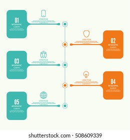 Vector  Comparative chart with banner for presentation, informative forms. Infographic option. Timeline  Info chart Process step by step illustration.