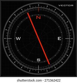 Vector compass black