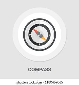 vector compass icon - navigation symbol - direction icon
