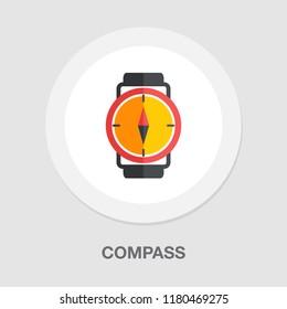 vector compass icon - navigation symbol - travel icon