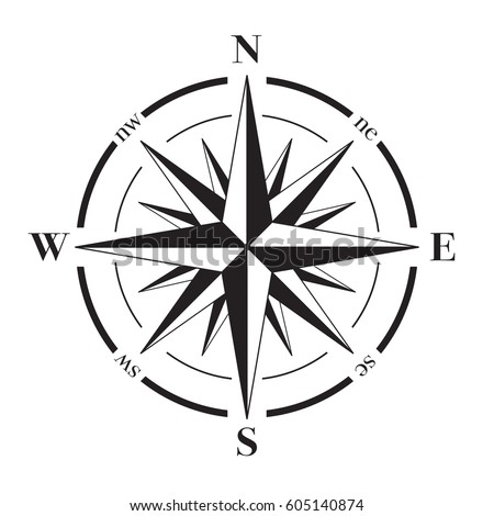 vector compass rose north south east のベクター画像素材