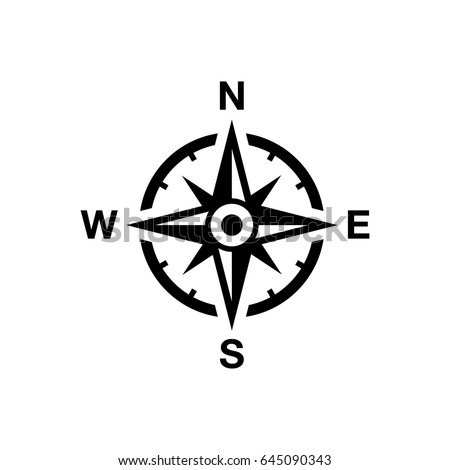 Vector Compass Rose North South East Stock Vector (Royalty ...