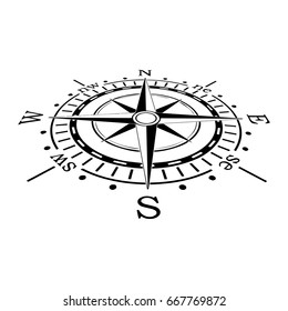Vector compass. Rose Wind in lineal style. Perfect image for Columbus Day.