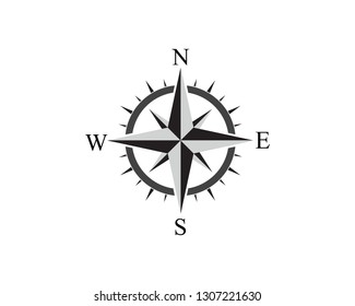 Vector - Compass signs and symbols logo