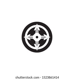 Vector Compass signs and symbols logo