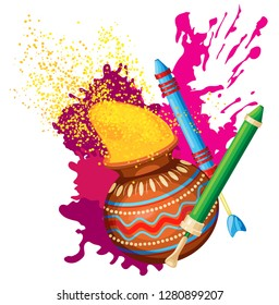 Vector composition for the Indian holiday of Holi. Transparent background