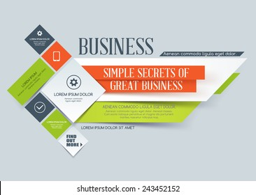 Vector composition from paper shapes for business.