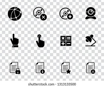 vector computer network set. mobile business icons, communication sign symbols - information technology elements