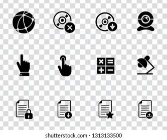 vector computer network set. mobile business icons, communication sign symbols - information technology elements