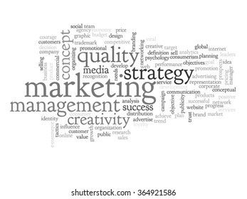 Vector concept abstract business success marketing word cloud wordcloud on background for business, trend, media, focus, market, value, product, advertising or customer. Also for corporate wordcloud