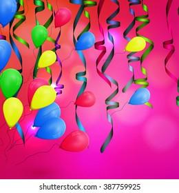 Vector concept background birthday celebration.