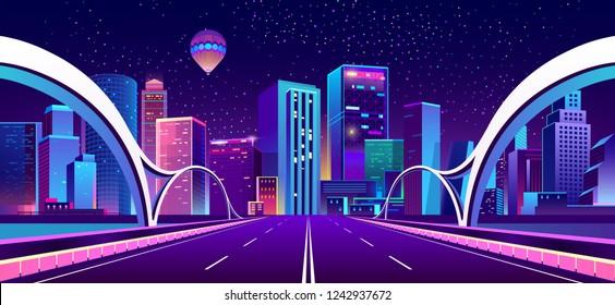 Highway Futuristic Stock Vectors Images Vector Art